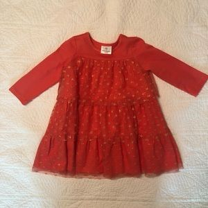 Hanna Andersson Coral Tiered Dress